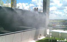 Sistema de Nebulización Masterkool España en la terraza de una vivienda privada. #nebulización #terrazas #MasterkoolEspaña #terrazasprivadas