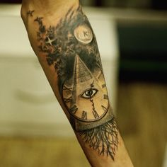 Pyramid Tattoo Designs on Forearm
