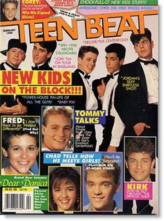 I spent OUTRAGEOUS amounts of money on magazines like this as a teenager... Teen Beat, Tiger Beat, Teen Dream, Bop, the list goes on... I bought 2 copies of just about every issue because they'd have New Kids pictures on BOTH sides of the page and I had to have EVERY picture! ;)