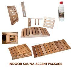 Indoor Sauna Accent Package - Almost Heaven Saunas Sauna Accessories, Indoor Sauna, Saunas, Floor Chair, Heaven, Packaging, Outdoor, Furniture