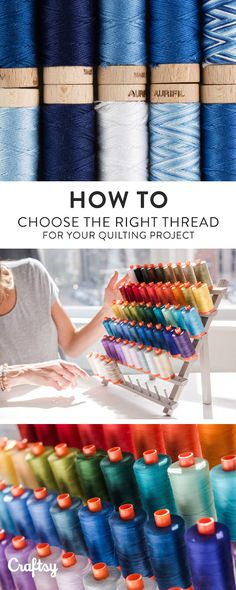 There are many options available when selecting threads for piecing and quilting. Here are some tips for choosing the correct thread for your project.