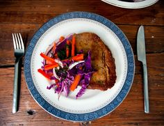 A Daily Dinner: Beef Milanese with Winter Slaw