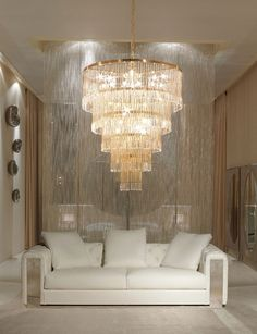 large tiered chandelier