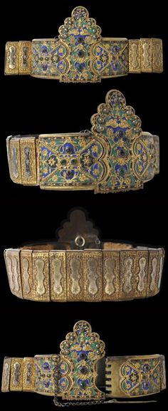 Enamelled & Gilded Wedding Belt Greece/Thrace 19th century