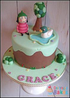 Sarah & Duck - Cake by Dollybird Bakes Happy 8th Birthday, 2 Birthday Cake, Little Girl Birthday, 2nd Birthday Parties, Birthday Ideas, Sarah Duck, Duck Cake, Novelty Cakes, Cake Shop