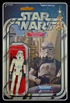 SANDTROOPER (Sergeant)  BLACK PAULDRON CARDED Figuras Star Wars, Pauldron, Star Wars Action Figures, Star Wars Toys, Star Wars Collection, Starwars, Joseph, Sci Fi, Baseball Cards