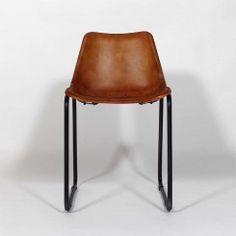 Chaise industrielle cuir et structur metal 07 pinterest m taux et loft - Chaise loft industriel ...