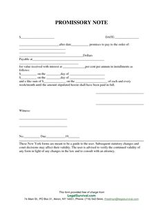 Template For Promissory Note. Note Free Promissory Note Template ...