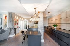 Kitchen Cabinets, Caesarstone Counters, Concrete, Cherner Chairs, Lighting