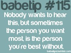 the person you're best without