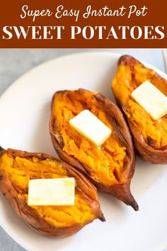 This easy Instant Pot Sweet Potatoes recipe shows you how to make perfect tender creamy sweet potatoes in less than an hour | Pressure Cooker Sweet potatoes | sweet potato paleo | potato dinner side | #sweetpotatoes #instantpotsidedish | pipingpotcurry.com