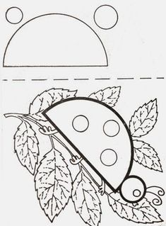 Forme coccinelle alban Ladybug, Coloring Pages, Applique, Quilting, Symbols, Seasons, Spring, Tela, Dressmaking