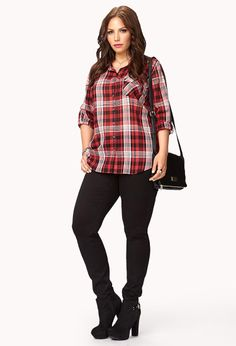 Staple Plaid Shirt | FOREVER21 PLUS - 2074280702
