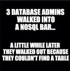 For every #database specialist out there...