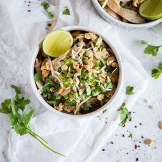 This quick and easy Keto Chicken Pad Thai holds its own against traditional high carb thai food. Best of all, it is quick, easy, and loaded with flavor. Thai Recipes, Asian Recipes, Low Carb Recipes, Dairy Recipes, Free Recipes, Low Carb Noodles, Keto Chicken, Chicken Recipes