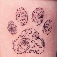 Tattoo Design Ideas - tattoo ideas - paw print tattoo ideas - dog tattoo ideas - small tattoo ideas - tattoo concepts - tattoos for women small - tattoo designs - tattoo ideas - Great Tattoos, Beautiful Tattoos, Body Art Tattoos, Small Tattoos, Tatoos, Awesome Tattoos, Dog Print Tattoos, Tattoos For Pets, Dog Paw Tattoos