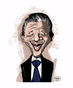 NELSON MANDELA - Kadran, caricature, illustration, cartoon, press, cartoons, caricatures, dessin de presse