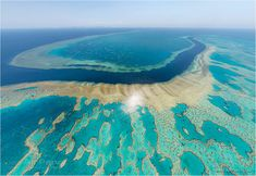 Aerial view of The Great Barrier Reef, Australia Great Barrier Reef, Tour Around The World, Around The Worlds, Belize, Cool Places To Visit, Places To Go, World Most Beautiful Place, 360 Virtual Tour, Panoramic Photography