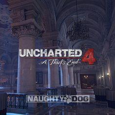 Uncharted 4 | Ballroom, Bradford Smith on ArtStation at https://www.artstation.com/artwork/m5eGe