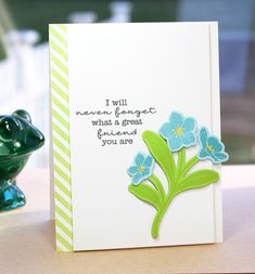 """Poppy Paperie card idea using My Favorite Things """"LJD Forget Me Not"""" stamps and Die-Namics"""