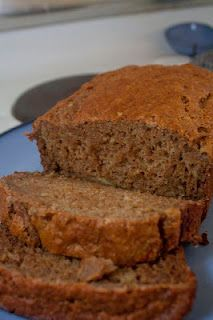 Banana bread with applesauce and honey instead of oil and sugar.