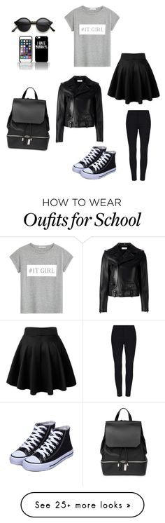 """Back2school 1st day"" by amysins on Polyvore featuring Yves Saint Laurent, MANGO and COSTUME NATIONAL"