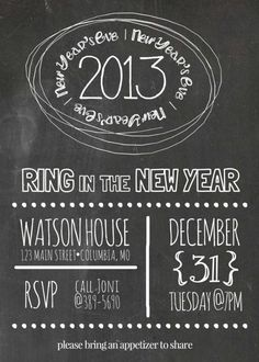 Chalkboard New Years Eve Invitation | DIY New Year's Eve Invitations That Are Totally Elegant