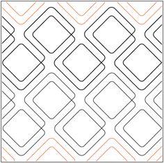 Diagonal Plaid - Bias Cut  Pantograph © 2017 Patricia E. Ritter