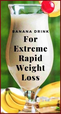 Banana Drink For Extreme Weight Loss - Diet & Weight Loss - Diet Food To Lose Weight, Weight Loss Drinks, Weight Loss Smoothies, Fast Weight Loss, How To Lose Weight Fast, Losing Weight, Healthy Weight, Weight Gain, Lose Fat