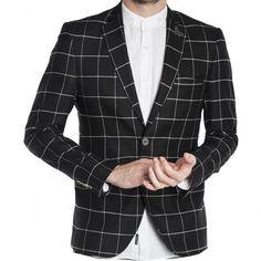 Ανδρικό σακάκι καρό Stefan 1010 FW/18 centralhall.gr/-FmK Suit Jacket, Blazer, Suits, Jackets, Men, Fashion, Down Jackets, Moda, Fashion Styles