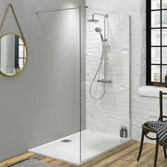 Walk In Shower Wetroom Glass Panel - Size: 1400mm