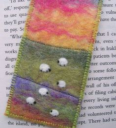 Not really into sheep but the colors and technique on this are gorgeous!