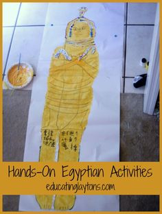 @Stef Layton shares some Hands-On Egyptian Activities that she and her kids did while studying from Mystery of History. #homeschool #history