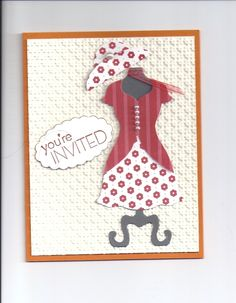 dresscard invitation- oval punch and 1'' circle punch used to make the hat,