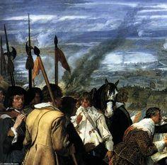 'Die Übergabe von Breda (Detail)', öl auf leinwand von Diego Velazquez (1599-1660, Spain)