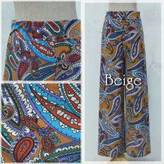 Beautiful leg style<3 Ethnic Paisley -color Beige- #fashion #bottom #ethnicstyle #onlinestore #naturaleeza