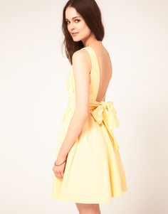 yellow bow back dress... I want this dress for Easter!!