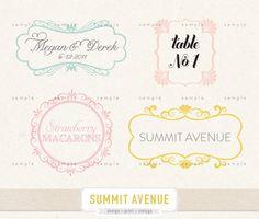 INSTANT DOWNLOAD Clip ArT digital frames & labels par summitavenue