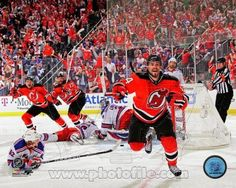 Adam Henrique Autographed New Jersey Devils Goal Celebration Photo New Jersey Devils, Dna, 2012 Games, Eastern Conference Finals, T Mo, Iconic Photos, Goals, T Shirts For Women, Celebrities