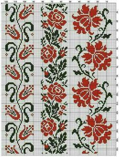 This Pin was discovered by Хри Cross Stitch Borders, Cross Stitch Flowers, Cross Stitch Charts, Cross Stitch Designs, Cross Stitching, Cross Stitch Patterns, Folk Embroidery, Cross Stitch Embroidery, Embroidery Patterns