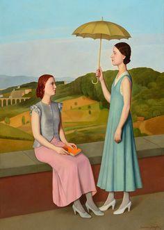 """igormag: """"Antonio Donghi (1897–1963), Le villeggianti, 1934. """""""