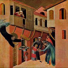 Il secondo miracolo, Simone Martini. Pinacoteca Nazionale Siena