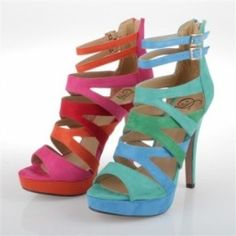 Strappy Open Toe Platform Heels in diff colors $21.00
