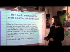 YouTube video of 4th grade writing lesson