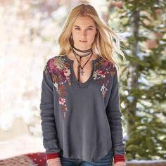 Briar Rose Thermal Top, Sundance Catalog Autumn 2017