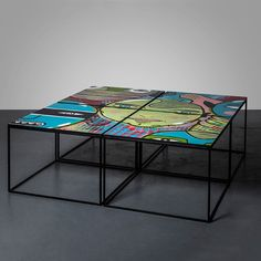 Graffiti Table 3 is one handmade art piece in a unique series which deals with the combination of street art and furniture. By attaching wooden boards to the walls of the streets with the purpose of supplying a clean canvas for graffiti artists in...