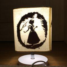 white snow & lamp