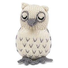 Organic Owl Rattle - Baby Toys