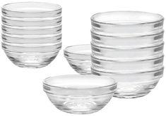 Duralex 12 Piece Bowl Set of Six, Clear #mixingbowls