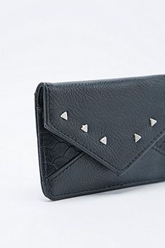Triangle Stud Card Holder in Black - Urban Outfitters